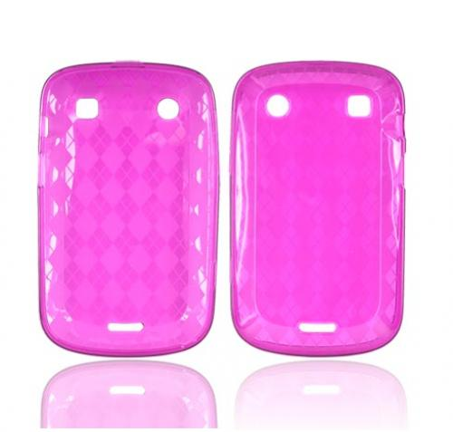 Blackberry Bold 9900, 9930 Crystal Silicone Case - Argyle Magenta