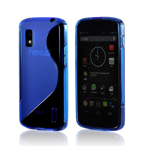Blue S Design Crystal Silicone Case for LG Google Nexus 4