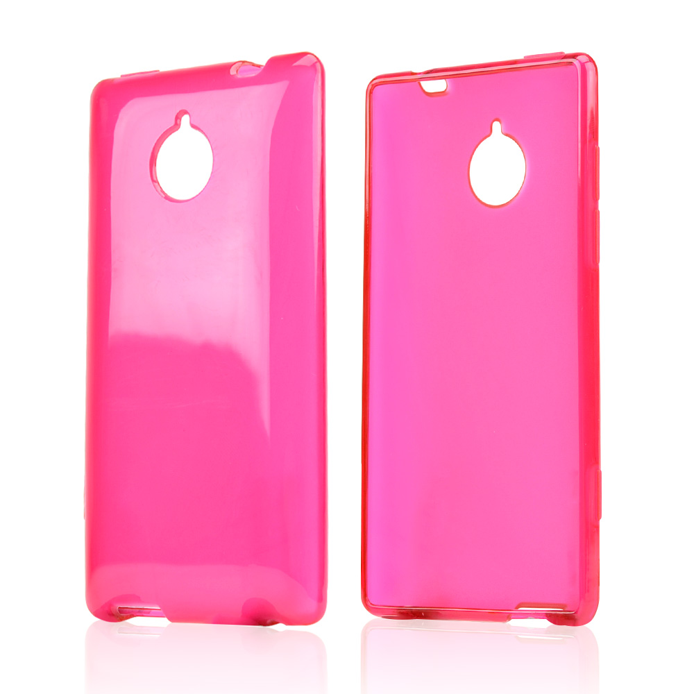 Hot Pink/ Frost Crystal Silicone Skin Case for HTC 8XT