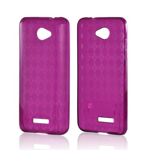 Argyle Purple Crystal Silicone Case for HTC Droid DNA