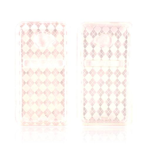 HTC EVO 4G LTE Crystal Silicone Case - Argyle Clear