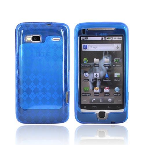 T-Mobile G2 Crystal Silicone Case - Argyle Design on Blue