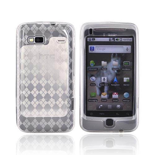 T-Mobile G2 Crystal Silicone Case - Argyle Design on Clear