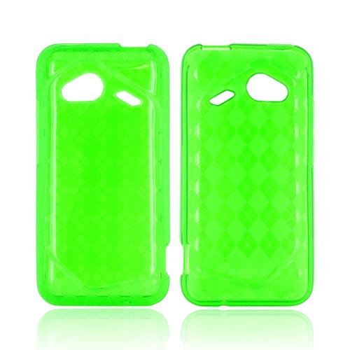 HTC Droid Incredible 4G Crystal Silicone Case - Argyle Green