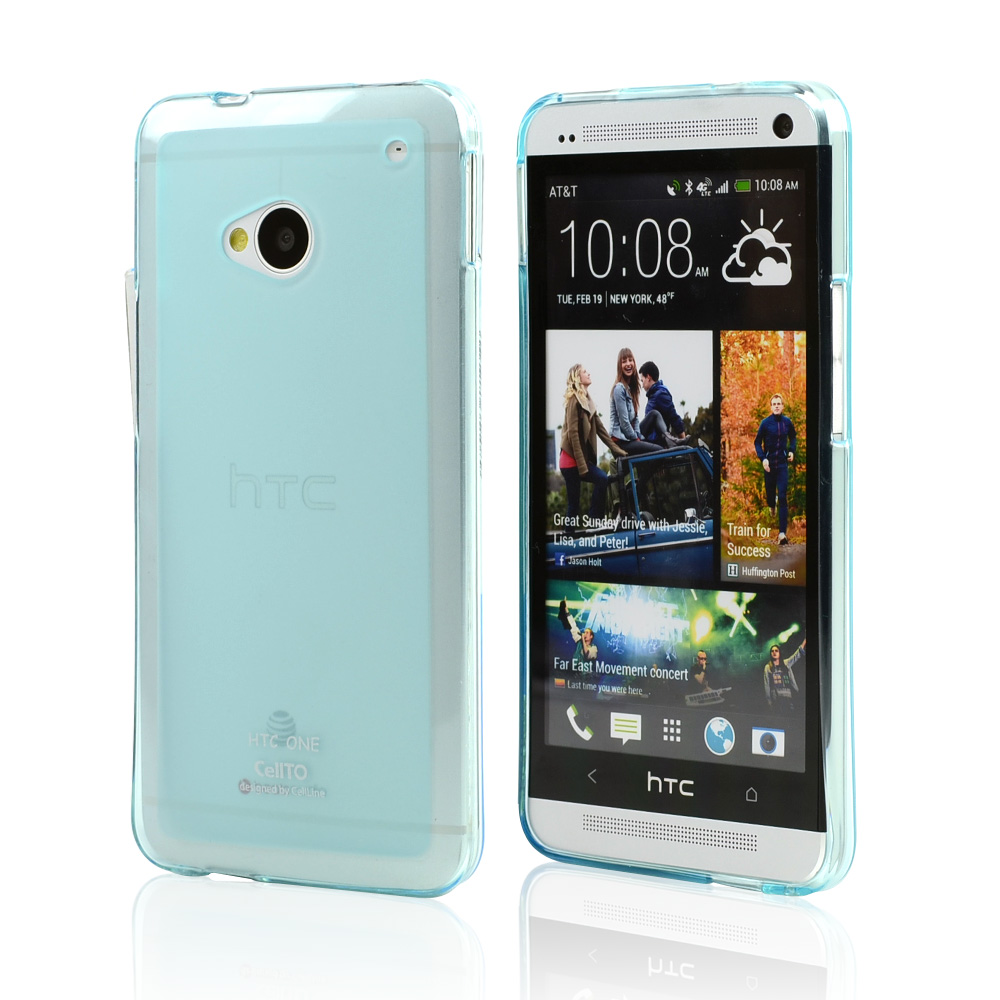 Baby Blue/ Frosted CellLine Matte Crystal Silicone Skin Case for HTC One