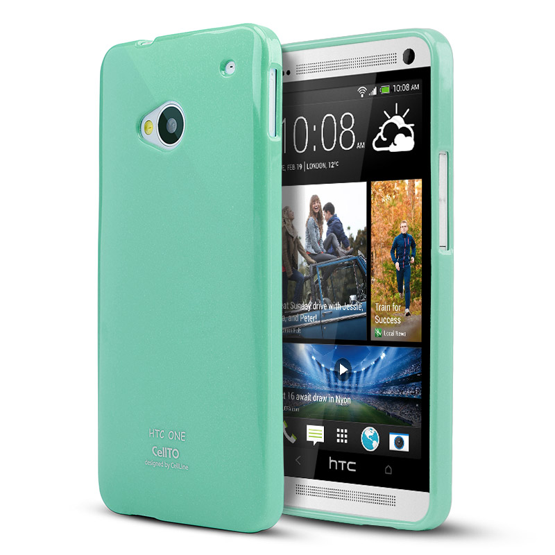 Mint CellLine Crystal Silicone Skin Case for HTC One
