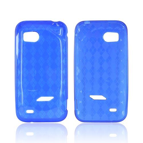 HTC Rezound Crystal Silicone Case - Argyle Blue
