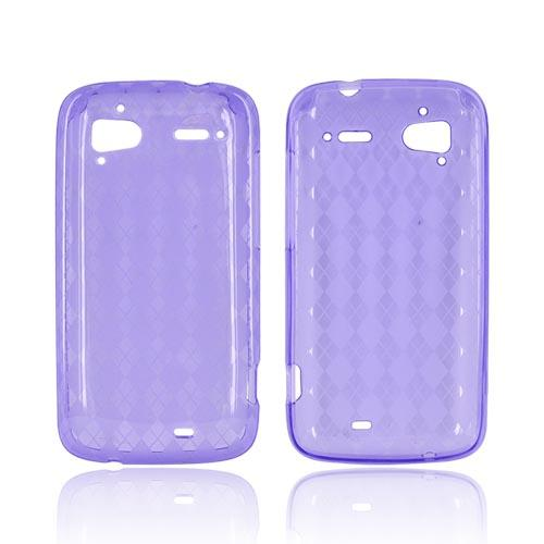 HTC Sensation 4G Crystal Silicone Case - Argyle Purple