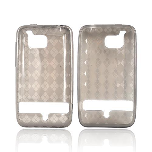 HTC Thunderbolt Crystal Silicone Case - Argyle Design on Smoke
