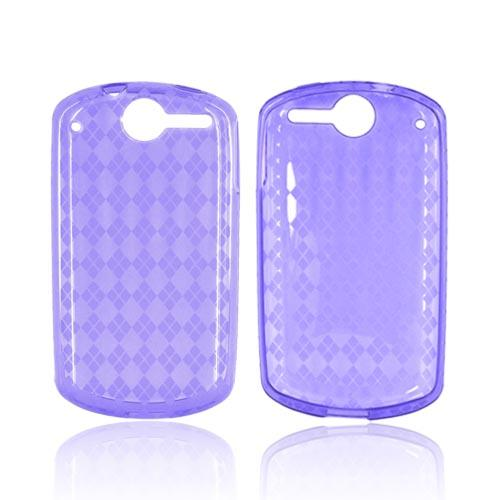 AT&T Impulse 4G Crystal Silicone Case - Argyle Purple