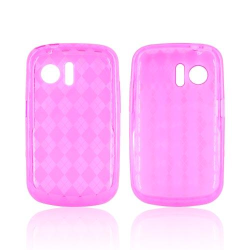 Huawei Pinnacle M635 Crystal Silicone Case - Argyle Hot Pink
