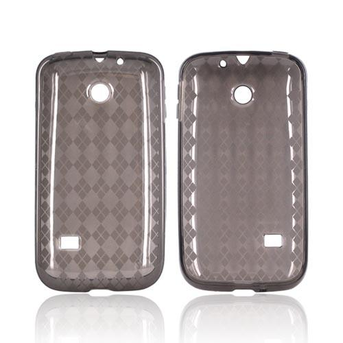 Huawei Ascend 2 M865 Crystal Silicone Case - Argyle Smoke