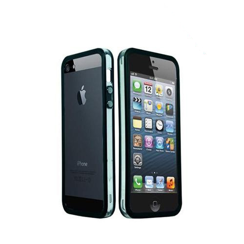 Apple iPhone 5/5S Crystal Silicone Bumper - Black/ Frost White