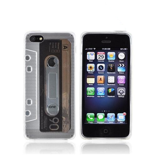 Apple iPhone 5/5S Crystal Silicone Case - Clear Cassette