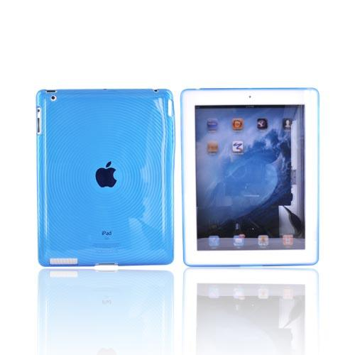 Apple iPad (2nd & 3rd Gen.) Crystal Silicone Case - Circles on Blue