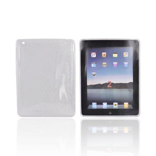 Apple iPad 2/ New iPad Crystal Silicone Case - Bubble Design on Clear