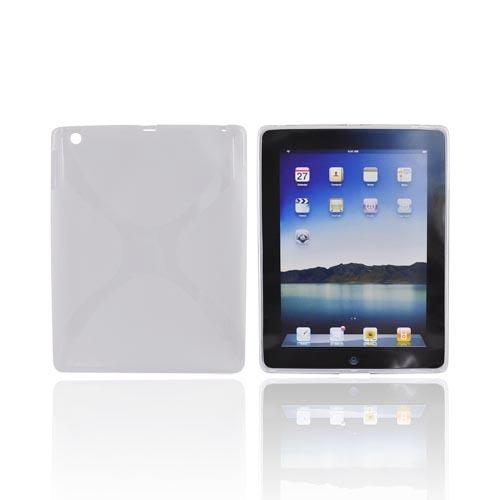 Apple iPad 2/ New iPad Crystal Silicone Case - X Frost White