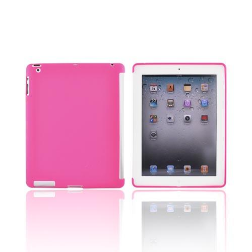 Apple iPad 2/ New iPad Crystal Silicone Case - Hot Pink