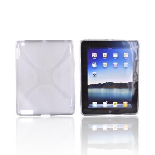 Apple iPad 2/3/4 Crystal Silicone Case - X Smoke