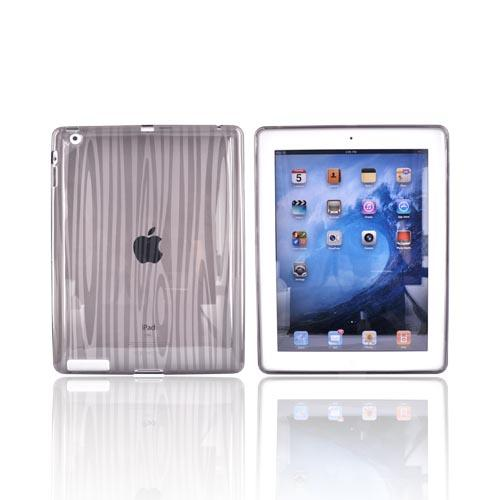 Apple iPad 2 Crystal Silicone Case - Wood Design on Smoke