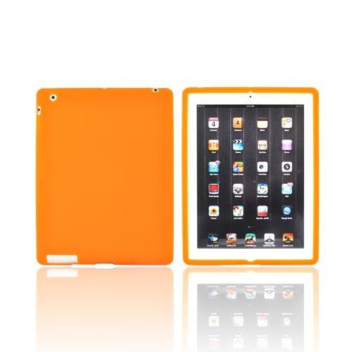Apple iPad 2, New iPad Silicone Case - Orange
