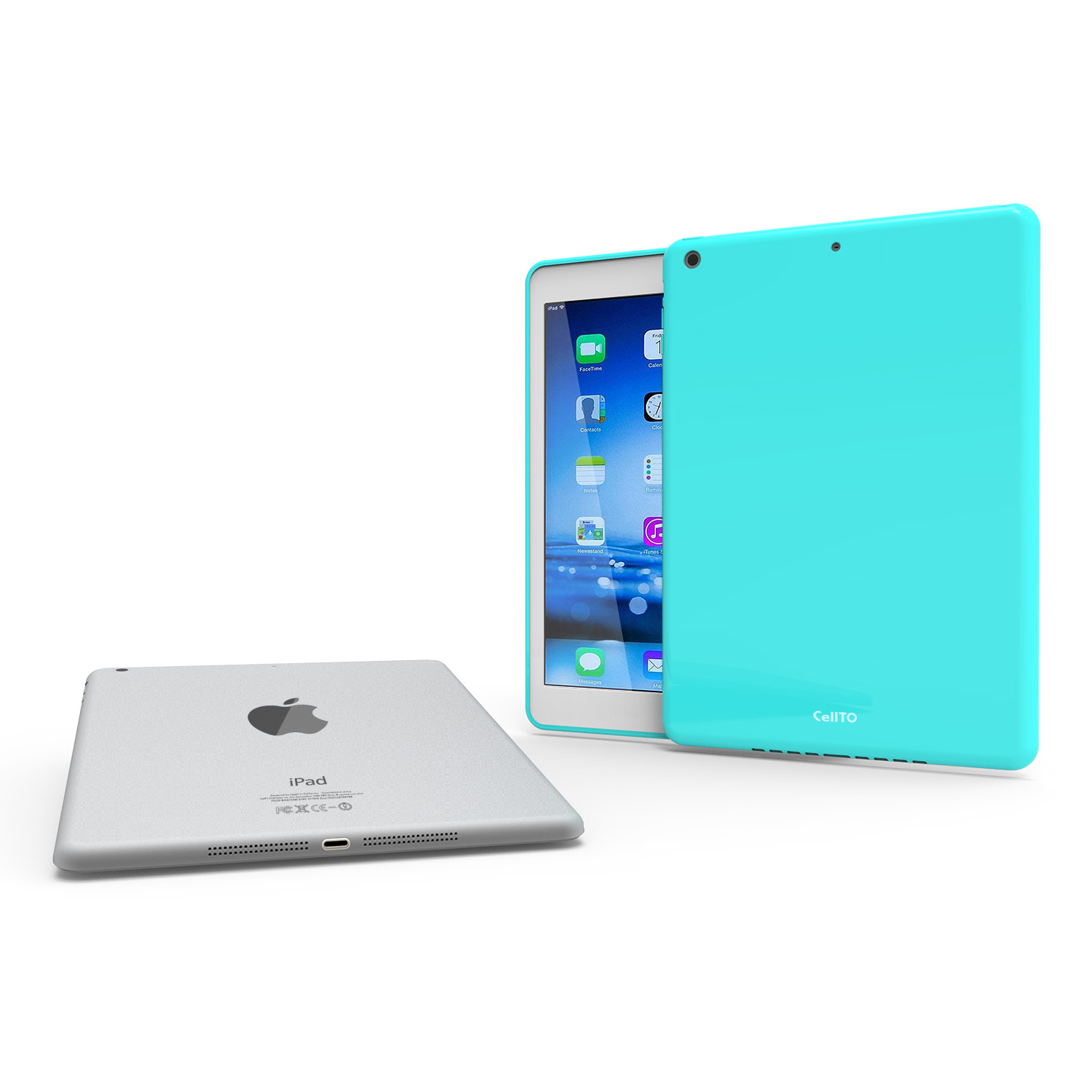 Mint CellTo Anti-Slip TPU Crystal Silicone Skin Case & Free Screen Protector for Apple iPad Air