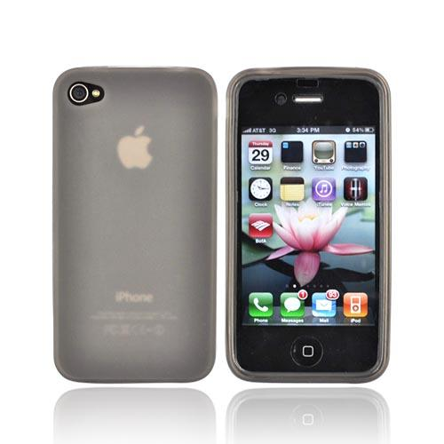 Apple iPhone 4 Crystal Silicone Case - Smoke