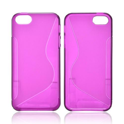 Apple iPhone 5/5S Crystal Silicone Case - Magenta S