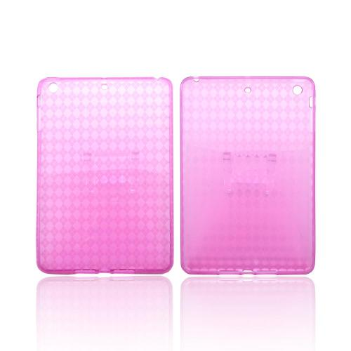 Argyle Hot Pink Crystal Silicone Skin Case for Apple iPad Mini/ iPad Mini 2