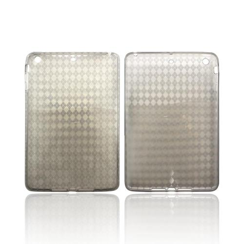 Argyle Smoke Crystal Silicone Skin Case for Apple iPad Mini/ iPad Mini 2