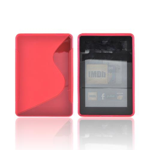 Amazon Kindle Fire Crystal Silicone Case - Transparent Hot Pink & Frost Hot Pink