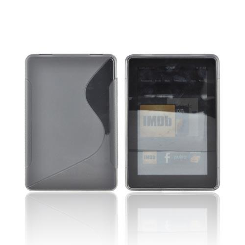 Amazon Kindle Fire Crystal Silicone Case - Transparent Smoke & Frost Smoke
