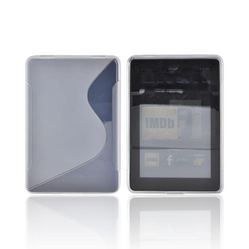 Amazon Kindle Fire Crystal Silicone Case - Clear & Frost White
