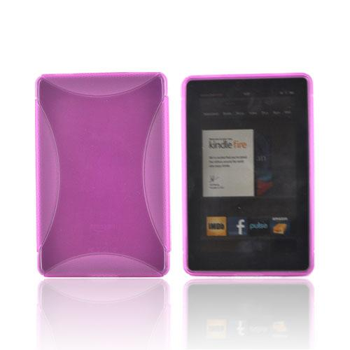 Amazon Kindle Fire Crystal Silicone Case - Hot Pink