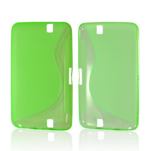 Neon Green S Design Crystal Silicone Case for Amazon Kindle Fire HD
