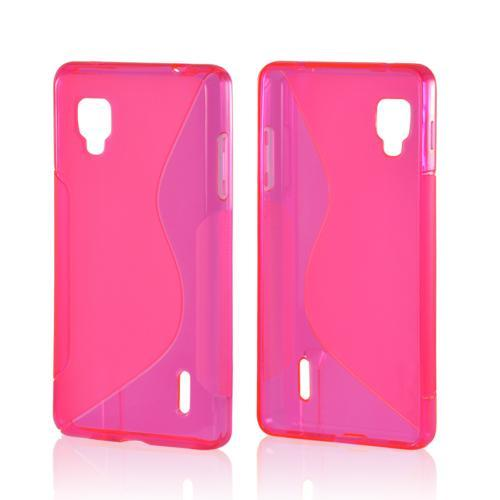 Hot Pink S Crystal Silicone Case for LG Optimus G (Sprint)