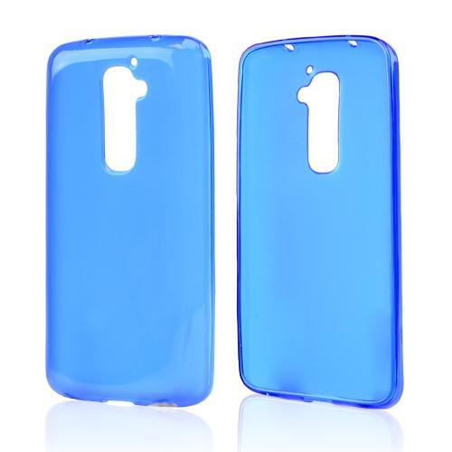 Blue/ Frost Crystal Silicone Skin Case for LG G2 (AT&T, T-Mobile, & Sprint)