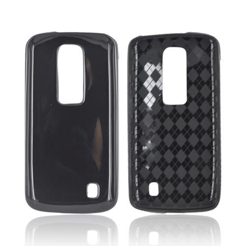 LG Nitro HD Crystal Silicone Case - Black (Argyle Interior)