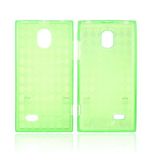LG Spectrum 2 Crystal Silicone Case - Argyle Green