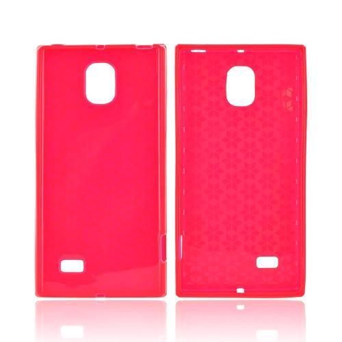 LG Spectrum 2 Crystal Silicone Case - Red Hex Star