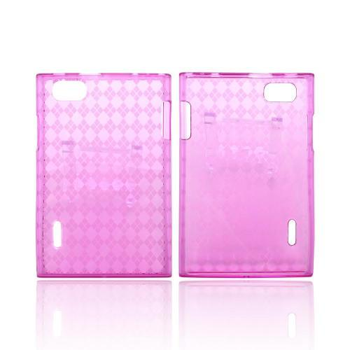LG Intuition VS950 Crystal Silicone Case - Argyle Hot Pink