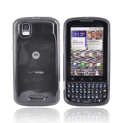 Motorola Droid Pro A957 Crystal Silicone Case - Transparent Smoke