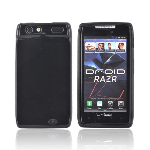 Motorola Droid RAZR Crystal Silicone Case - Black (Argyle Interior)