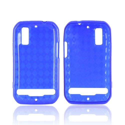 Motorola Photon 4G Crystal Silicone Case - Argyle Blue