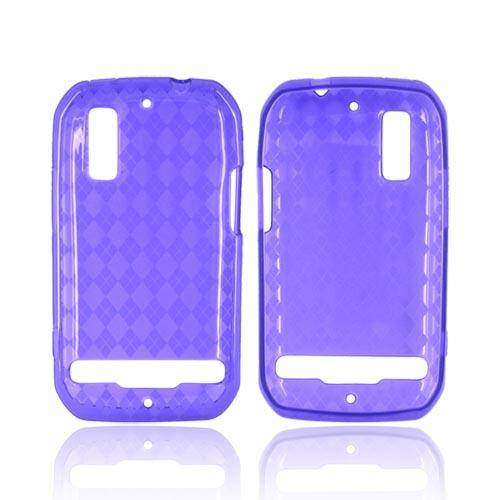 Motorola Photon 4G Crystal Silicone Case - Argyle Purple