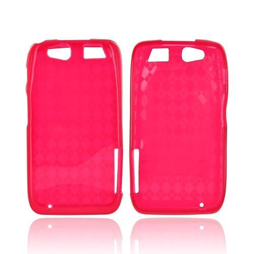 Motorola Atrix HD Crystal Silicone Case - Argyle Red