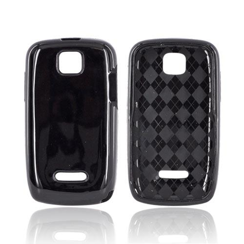 Motorola Theory Crystal Silicone Case - Black (Argyle Interior)