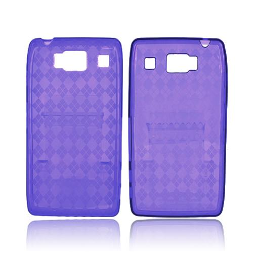 Motorola Droid RAZR HD Crystal Silicone Case - Argyle Purple