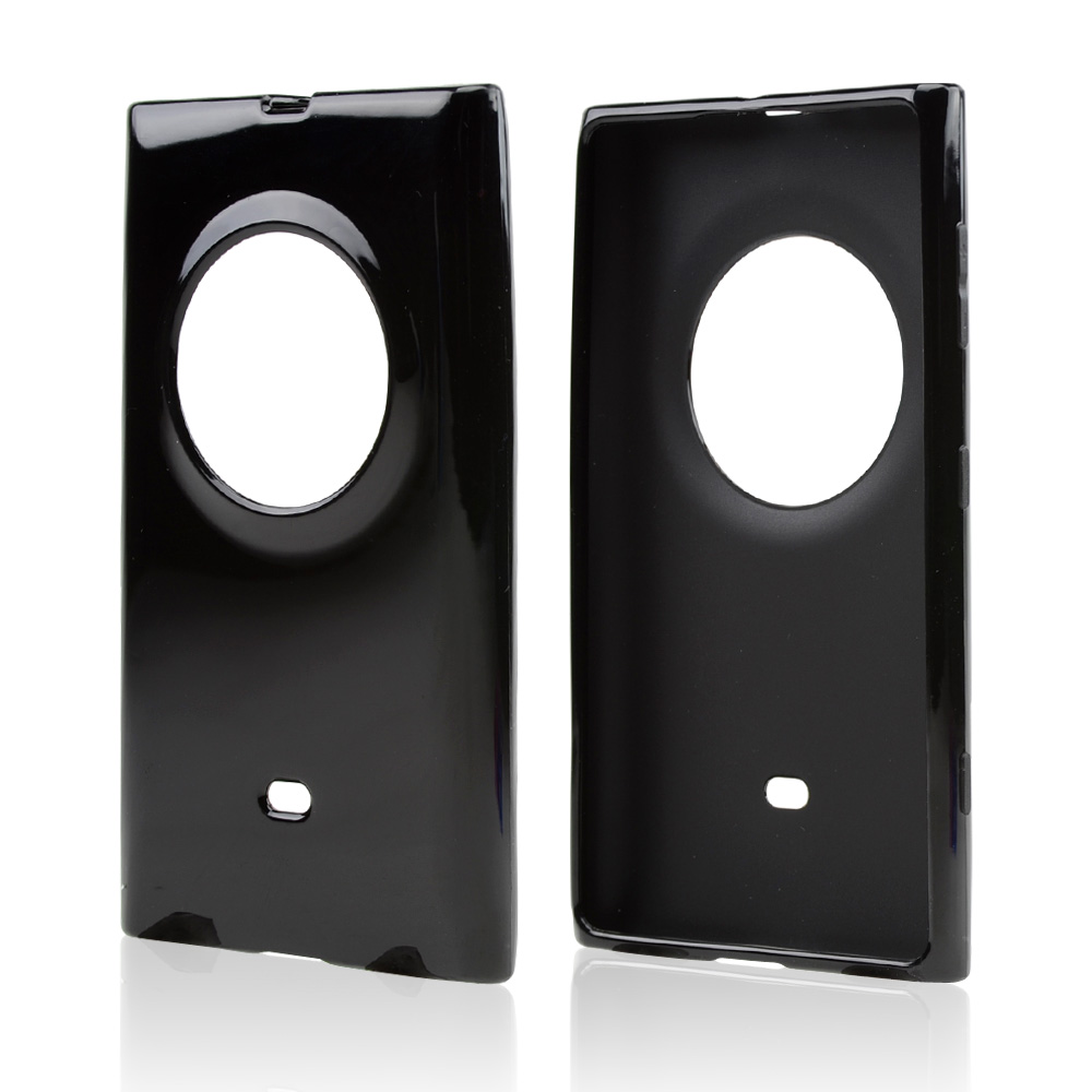 Black Crystal Silicone Skin Case for Nokia Lumia 1020