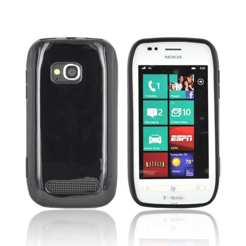 Nokia Lumia 710 Crystal Silicone Case - Black (Argyle Interior)